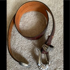 Vintage Annabella belt with metal buckle and tip